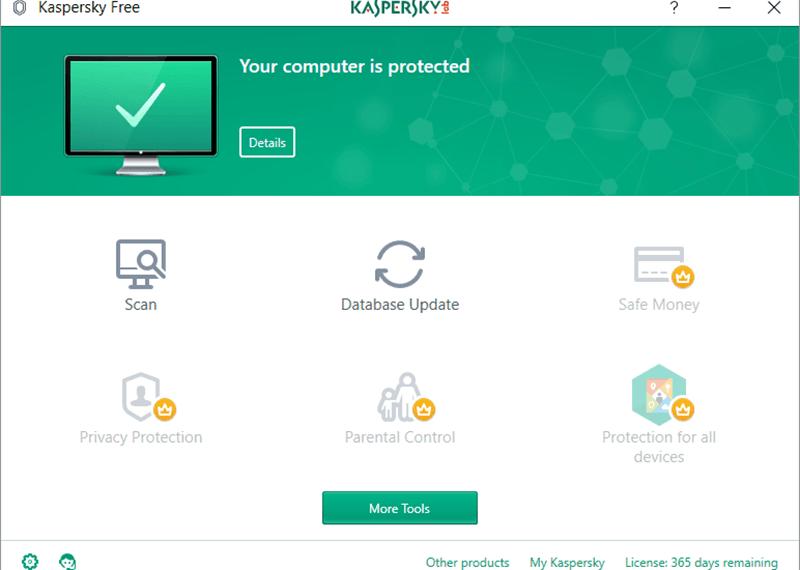 Phần mềm Kaspersky Free Antivirus
